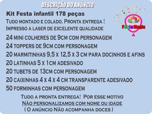 Kit Festa Cebolinha (turma Da Mônica) 178 Peças (20 pessoas)