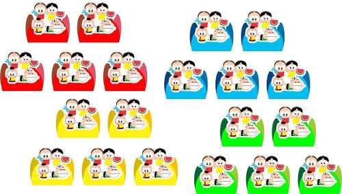 Kit Festa Turma Da Mônica Toy 103 Peças (10 pessoas)