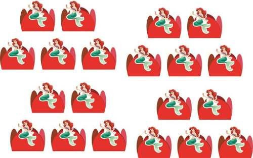 Kit Festa A Pequena Sereia (ariel) 265 Peças (30 pessoas)