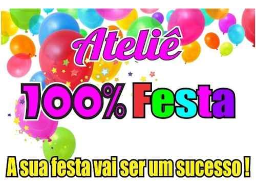 Kit Festa Infantil Chá Revelação 99 Peças (10 pessoas)