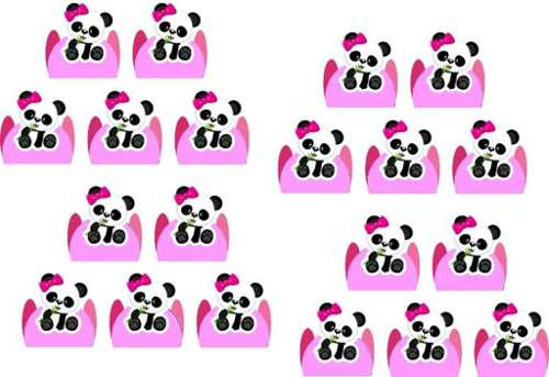Kit Festa Infantil Panda Menina 99 Peças (10 pessoas)