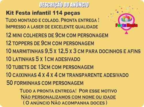 Kit Festa Infantil Bob Esponja 114 Peças (10 pessoas)