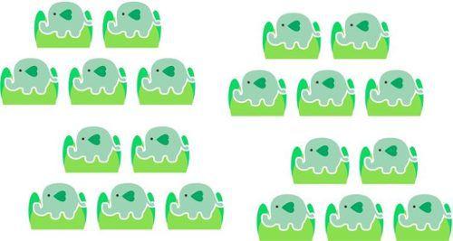 Kit Festa Elefantinho Verde claro 143 Peças (20 pessoas)