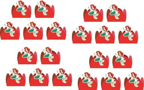 Kit Festa A Pequena Sereia (ariel ) 99 Peças (10 pessoas)