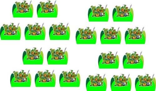 Kit Festa Tartarugas Ninja desenho 107 Peças (10 pessoas)