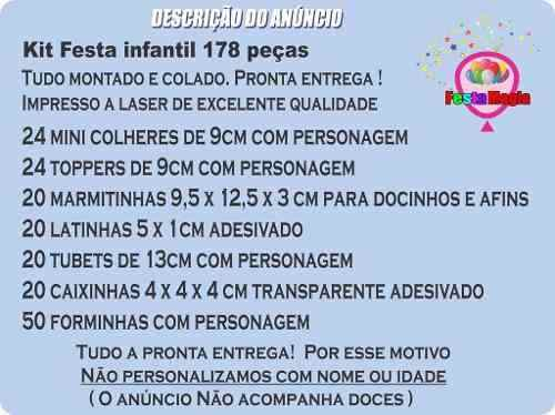 Kit Festa Girassol 178 Pças (20 pessoas)