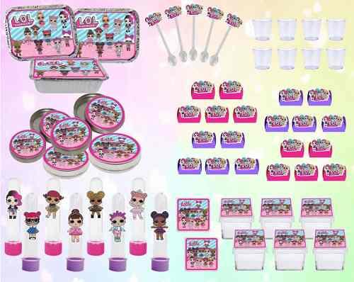 Kit Festa Lol Surprise (pink E Lilás) 110 Peças (10 pessoas)