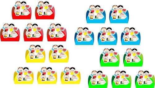 Kit Festa Turma Do Cebolinha Toy 110 Peças (10 pessoas )