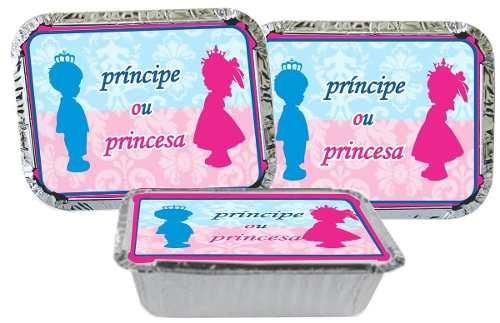 Kit Festa Chá Revelação Príncipe E Princesa 110 Peças (10 pessoas)