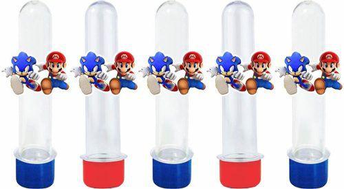 Kit Festa Mario X Sonic 110 Peças (10 pessoas)