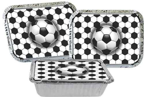 Kit Festa Futebol (preto E Branco) 110 Peças (10 pessoas)