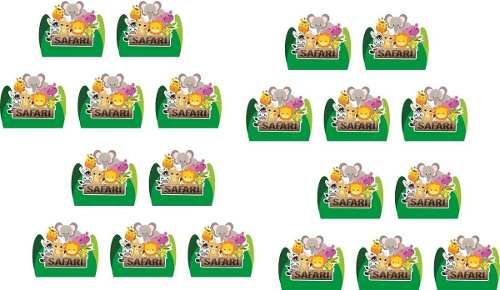 Kit Festa Safari Menino (verde Escuro) 106 Peças (10 pessoas)
