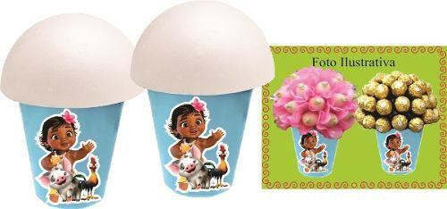 Kit Festa Infantil Moana Baby 106 Peças (10 pessoas)