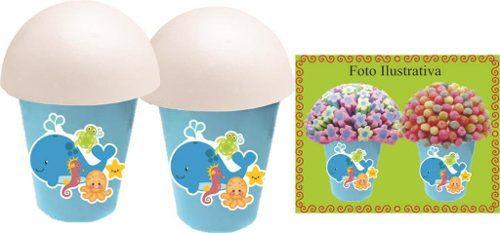 Kit Festa Infantil Fundo Do Mar 106 Peças (10 pessoas)