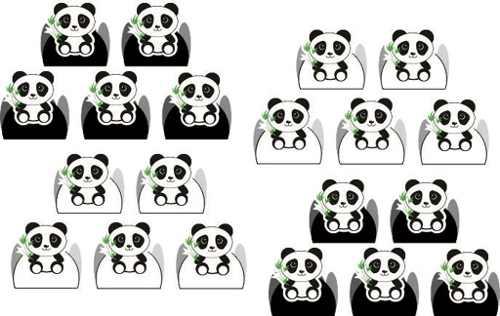 Kit Festa Panda Menino (preto E Branco) 106 Peças (10 pessoas)