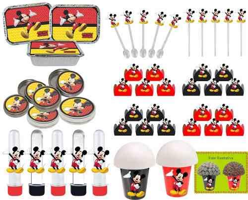 Kit Festa Infantil Mickey 106 Peças (10 pessoas)