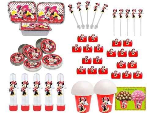Kit Festa Minnie Vermelha 106 Peças (10 pessoas)