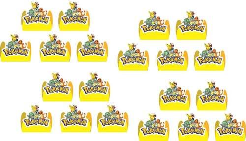 Kit Festa Pokemón (pikachu) 106 Peças (10 pessoas)