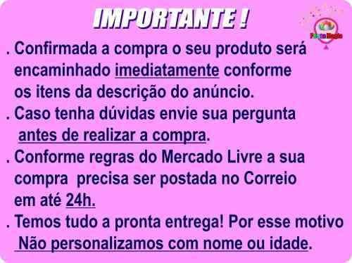 Kit Festa Galinha Pintadinha Menina 106 Peças (10 pessoas)