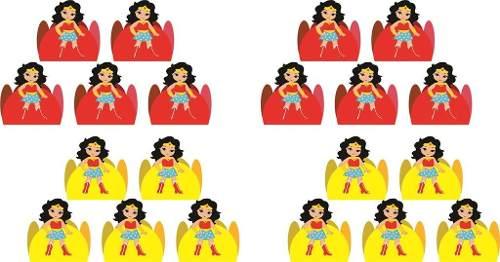Kit Festa Mulher Maravilha Baby 106 Peças (10 pessoas)