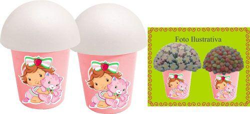 Kit Festa Infantil Moranguinho Baby 99 Peças (10 pessoas)