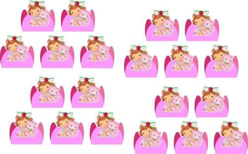 Kit Festa Moranguinho Baby 143 Peças (20 pessoas)