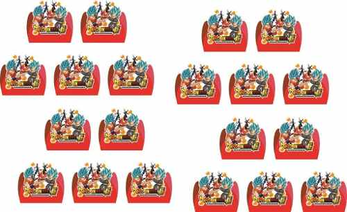 Kit Festa Infantil Dragon Ball Super 99 Peças (10 pessoas)