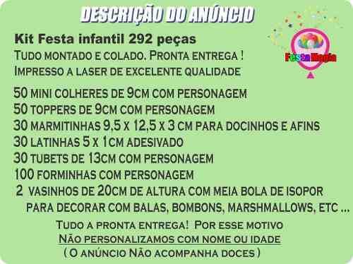 Kit Festa Infantil Princesas 292 Peças (30 pessoas)