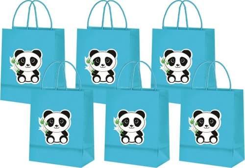 Sacolinhas Panda (azul Claro) 10 Unidades