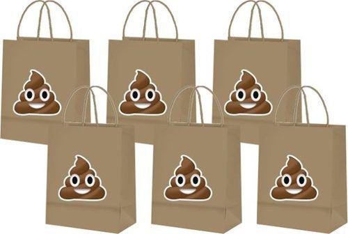 Sacolinhas Emoji Cocô (cocozinho) 10 Unidades