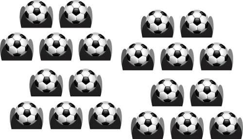 50 Forminhas Bola De Futebol