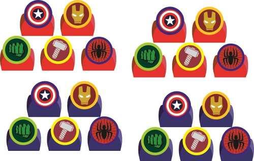 50 Forminhas Vingadores Símbolos