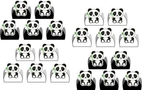 50 Forminhas Panda Menino