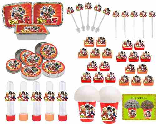 Kit Festa Infantil Dragon Ball Z 352 Peças