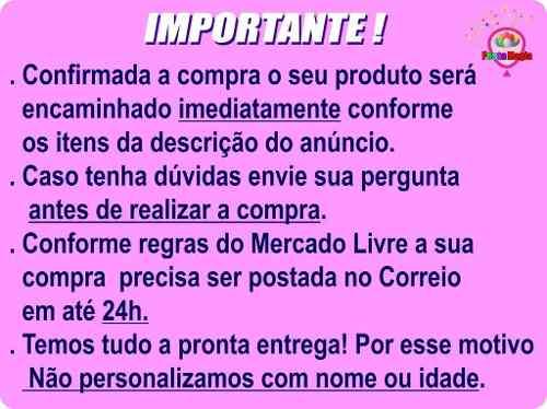 Kit Festa Infantil Mulher Maravilha 352 Peças (50 pessoas)