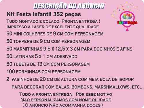 Kit Festa Infantil Princesas Baby 352 Peças