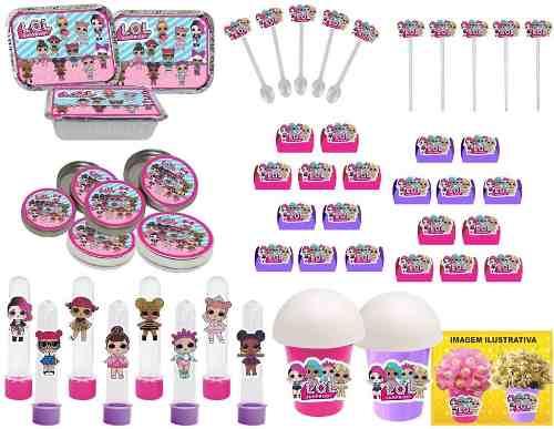 Kit Festa  Lol Surprise (pink E Lilás) 352 Peças (50 pessoas)