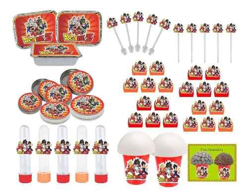 Kit Festa Infantil Dragon Ball Super 352 Peças