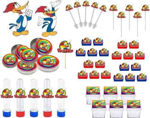 Kit festa Pica Pau 293 Peças (30 pessoas)