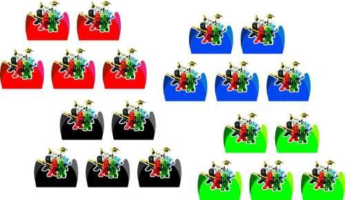 Kit Festa Infantil Ninjago 293 Pças (30 pessoas)