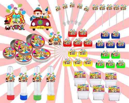 Kit Festa Circo 161 Peças (20 pessoas)