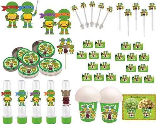 Kit FestaTartarugas Ninja Baby 265 Peças (30 pessoas)