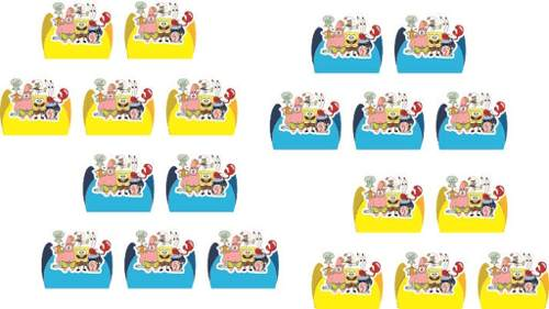Kit festa Infantil Bob Esponja 160 Peças (20 pessoas)