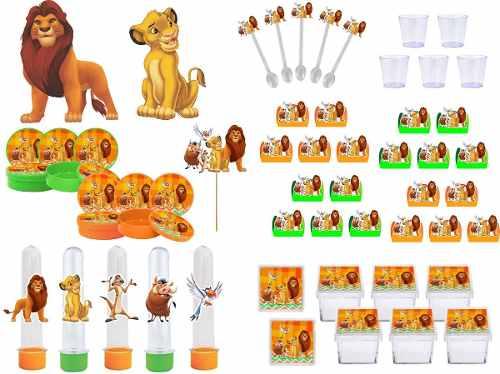 Kit Festa O Rei Leão 103 Peças (10 Pessoas)