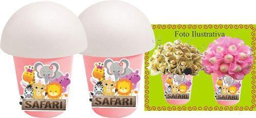 Kit Festa Infantil Safari Menina 155 Peças (20 pessoas)