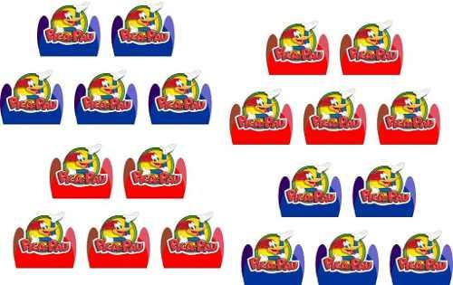 Kit Festa Infantil Pica Pau 160 Peças (20 pessoas)
