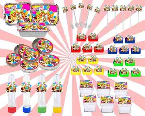 Kit Festa Infantil Circo 178 Peças (20 pessoas)