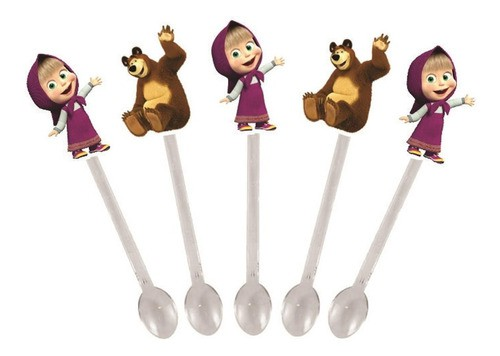 Kit Festa Infantil Masha E O Urso 99 Peças (10 pessoas)