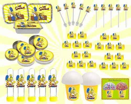 Kit Festa Os Simpsons 160 Peças (20 pessoas)