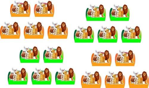 50 Forminhas, 50 Mini Colheres 50 Mini Copinhos O Rei Leão